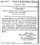 13th Amendment, 1865 Canvas Print
