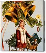 American Christmas Card Canvas Print