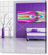 An Example Of Modern Art By Rolf Bertram In An Interior Design Setting Canvas Print