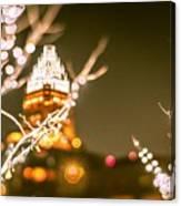 Christmas Lights Holiday Decorations Around Charlotte North Caro Canvas Print