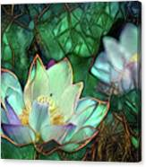 Jeweled Water Lilies Canvas Print