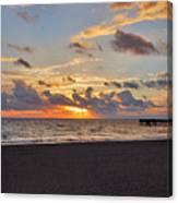14- Juno Beach Pier Canvas Print