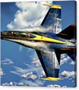 Navy Blue Angels Canvas Print