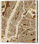 New York City Street Map Canvas Print
