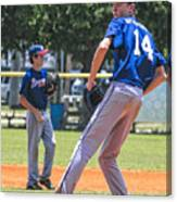 14 On The Mound Canvas Print