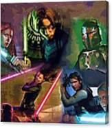 Star Wars Galaxies Art Canvas Print