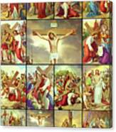 14 Stations Of The Cross Canvas Print