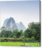 The Beautiful Karst Rural Scenery In Spring Canvas Print