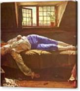 Wallis Henry The Death Of Chatterton Henry Wallis Canvas Print
