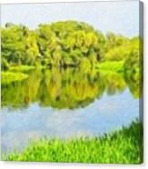 Nature Landscape Illumination Canvas Print