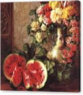 bs- George Henry Hall- Still Life George Henry Hall Canvas Print