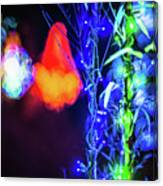 Christmas Season Decorations And Lights At Gardens Canvas Print