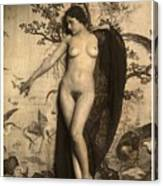 Digital Ode To Vintage Nude By Mb Canvas Print