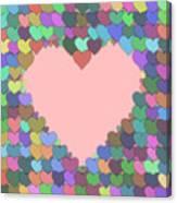 Love Heart Valentine Shape Canvas Print
