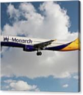 Monarch Airbus A321-231 Canvas Print