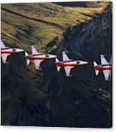 Patrouille Suisse Canvas Print