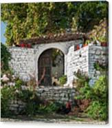 Street In Berat Old Town In Albania Canvas Print