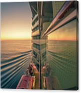 Sunset Over Alaska Fjords On A Cruise Trip Near Ketchikan Canvas Print