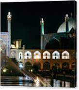 The Shah Mosque Famous Landmark In Isfahan City Iran Canvas Print