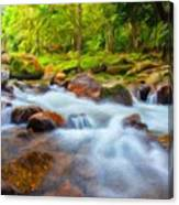 Nature Painted Landscape Canvas Print