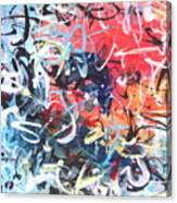 Abstract Calligraphy Canvas Print