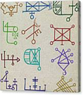 Cabbalistic Signs And Sigils, 18th Canvas Print