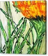 Digital Flower Painting Canvas Print