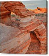 First Light On Valley Of Fire Canvas Print