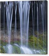 Water Flowing Over Rocks Canvas Print