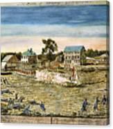 Battle Of Lexington, 1775 Canvas Print