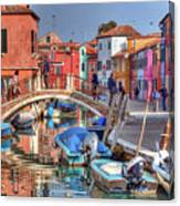 Burano Venice Italy Canvas Print