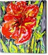 Digital Flower Painting Canvas Print