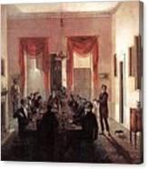Jlm-1820-henry Sargent-the Dinner Party Henry Sargent Canvas Print