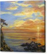 17 Mile Sunset Canvas Print