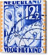 Old Dutch Postage Stamp Canvas Print