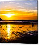 Sunset Bay Beach Canvas Print