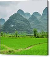 The Beautiful Karst Rural Scenery Canvas Print