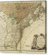 1783 United States Of America Map Canvas Print