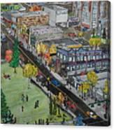 17th Ave Calgary Canvas Print
