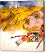 Looking At Van Gogh My Way Album Canvas Print
