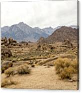 Rocks, Mountains And Sky At Alabama Hills, The Mobius Arch Loop  Canvas Print