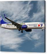 Travel Service Boeing 737-8cx Canvas Print