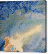 18. V1 Blue, Green, And Brown Glaze Painting Canvas Print