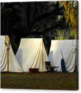 1800s Army Tents Canvas Print