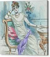 1804 Paris France Fashion Drawing Canvas Print