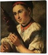 1820- Vasily Tropinin Canvas Print