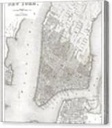 1839 New York City Map Canvas Print
