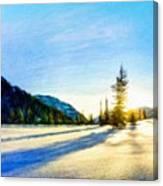 Nature Oil Painting Landscape Canvas Print