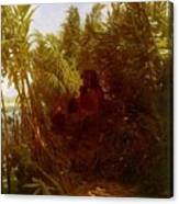 1856-57 Pan Amongst The Reeds Arnold Bcklin Canvas Print