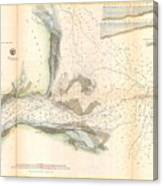 1857 U.s. Coast Survey Map Or Chart Of The Mouth Of St. Johns River, Florida Canvas Print